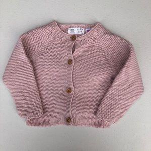 Zara | blush pink knit sweater cardigan